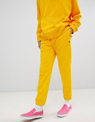 Champion Velour Joggers In Yellow