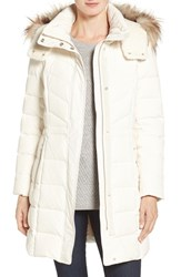 Cole Haan Women's Water Repellent Down Parka With Faux Fur Trim