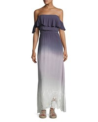 Young Fabulous And Broke Aidy Off The Shoulder Ombre Maxi Dress Multi