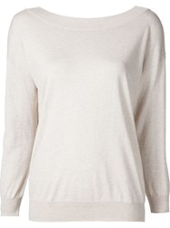 L'agence 'Sandrive' V Back Sweater Nude And Neutrals
