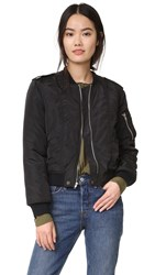 Mcguire Quilted Bambina Bomber Jacket Black