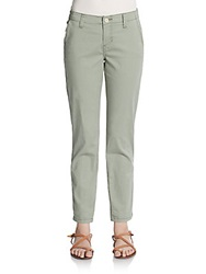 Christopher Blue Suzy Cropped Chinos Moss