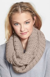 Junior Women's Bp. Chevron Pointelle Infinity Scarf Ivory