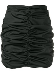 Attico Ruched Mini Skirt Black