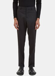 Lanvin Contrast Panel Slim Tailored Pants Black