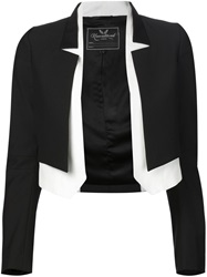 Unconditional Contrasting Layer Cropped Jacket Black