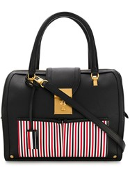 Thom Browne Inside Out Deerskin Mrs. Bag Black