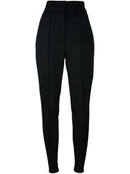 Alexandre Vauthier Pleated Tapered Trousers Black