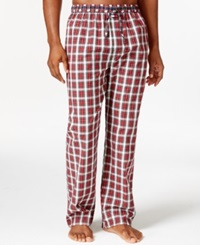 Tommy Hilfiger Woven Plaid Pajama Pants Red Plaid