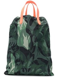 Alexander Mcqueen Drawstring Camouflage Backpack Green