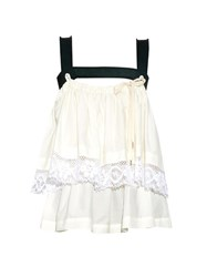 Vivienne Westwood Harness Lace Trimmed Tiered Top