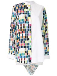 Gloria Coelho Printed Hooded Shirt White