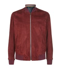 Paul Smith Suede Bomber Pink