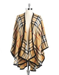 Lord And Taylor Plaid Shawl Camel