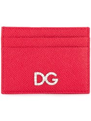 Dolce And Gabbana Logo Cardholder Pouch Red