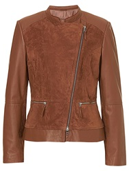 Betty Barclay Leather Jacket Classic Nougat