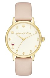 Kate Spade Women's New York Metro Wine And Dine Leather Strap Watch 34Mm