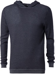 Roberto Collina Hooded Sweater Blue