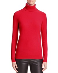 Bloomingdale's C By Cashmere Turtleneck Sweater Cherry