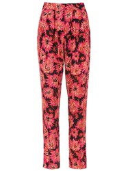 Andrea Marques Printed Straight Trousers Black