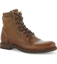 Aldo Freowine Leather Ankle Boots Rust