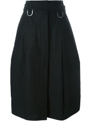 Celine Belted Midi Skirt Black