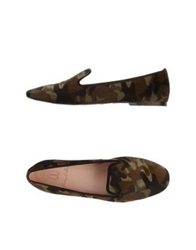 Pretty Loafers Moccasins Military Green