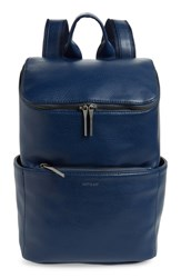 Matt And Nat 'Brave' Faux Leather Backpack Blue Allure