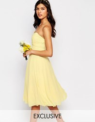 Tfnc Wedding Prom Midi Dress Pastel Yellow