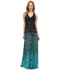 Hard Tail Twisty Back Maxi Dress Rainbow Horizon 32 Women's Clothing