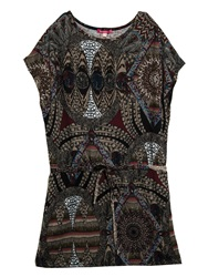 Smash Avery Short Sleeve Printed Tunic Wine