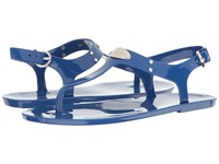 Michael Michael Kors Mk Plate Jelly Electric Blue Pvc Women's Sandals