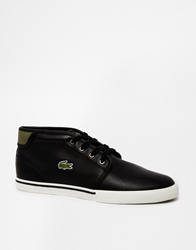 Lacoste Ampthill Shearling Look Chukka Boots Black
