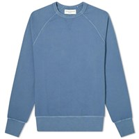 Officine Generale Pigment Dyed Clement Crew Sweat Blue