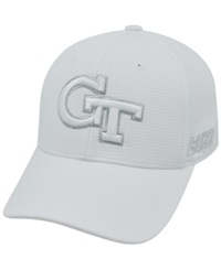 Top Of The World Georgia Tech Yellow Jackets Diamond Stretch Fit Cap White Silver