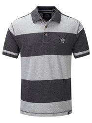 Tog 24 Bennett Stripe Mens Polo Shirt Light Grey Marl