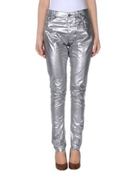 Drkshdw By Rick Owens Casual Pants Silver