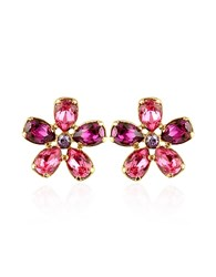 A Z Collection Az Flower Gold Plated Clip On Earrings