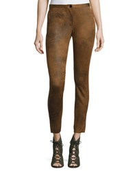 Chelsea And Theodore Low Rise Cigarette Pants Neutral