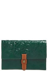 Women's Patricia Nash 'Colli' Leather Flap Wallet Green Antique Green