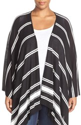 Plus Size Women's Foxcroft Stripe Wrap Cardigan