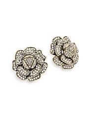 Heidi Daus Crystal Flower Earrings Gold