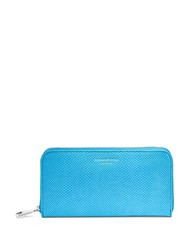 Aspinal Of London Continential Clutch Wallet Blue