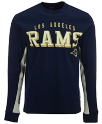G3 Sports Men's Los Angeles Rams Hands High Front Four Fashion Long Sleeve T Shirt Navy White