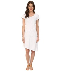 Mod O Doc Slub Jersey Tiered T Shirt Dress White Women's Dress