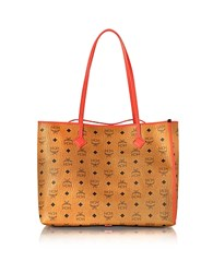 Mcm Kira Visetos Ew Cognac Medium Shopper
