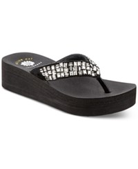 Yellow Box Parita Wedge Sandals Women's Shoes Black Clear