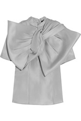 Marc By Marc Jacobs Mayu Bow Effect Silk Organza Top Gray