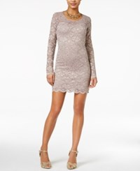 Jump Juniors' Open Back Lace Bodycon Dress Taupe