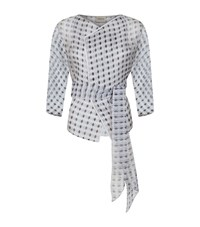 Armani Collezioni Diamond Print Organza Jacket Female Multi